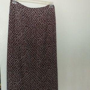 Full length floral skirt